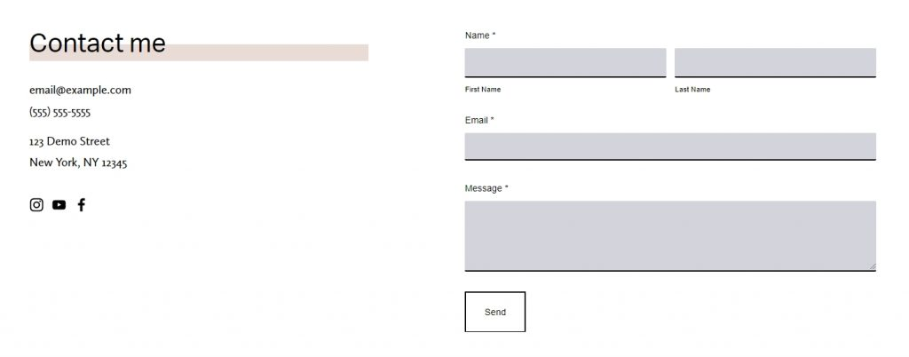 CSS code For SquareSpace 7.1 contact form